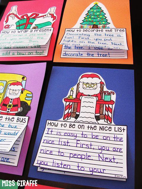 Miss Giraffe's Class: December Writing Crafts