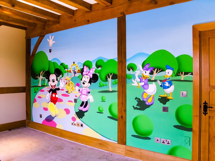 Mickey Mouse Clubhouse Mural Sacredart Murals Amp Diy Materials Wallpaper Accessories Best Free Home Design Idea Inspiration