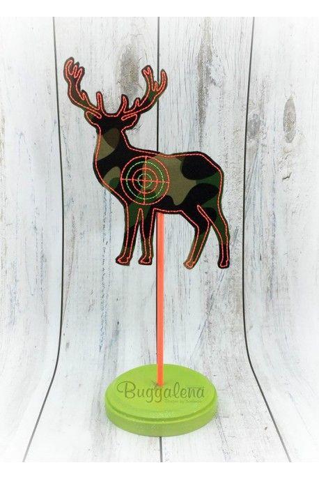In The Hoop Deer Target BuggaSign Embroidery Design