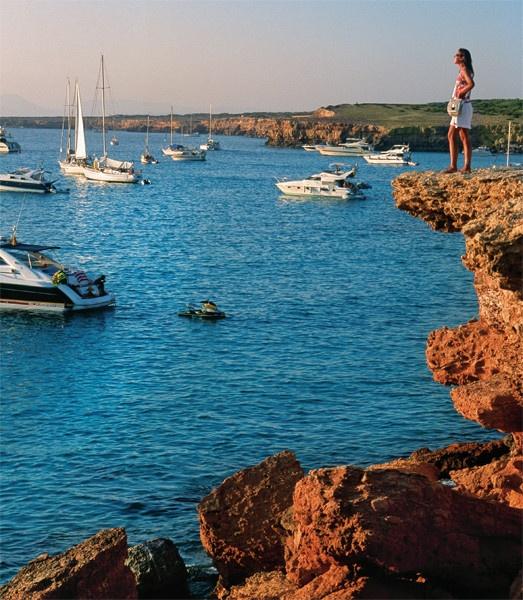 Cala Saona in Formentera, Ibiza, Spain