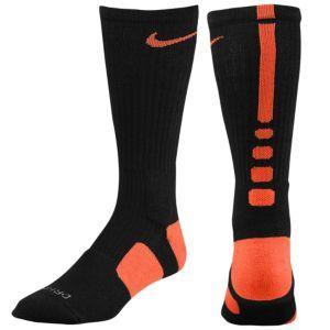 Nike Elite Basketball Crew Sock - Men's - Basketball - Accessories - Black/Orange