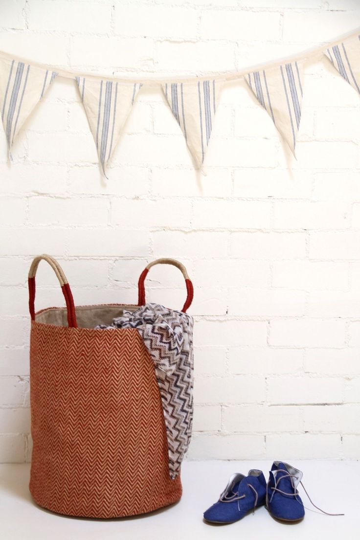 The Dharma Door USA - Loomed Basket - Red Chevron $99.00 (/ & 69 best The Dharma Door Style images on Pinterest | Jute Hessian ... pezcame.com