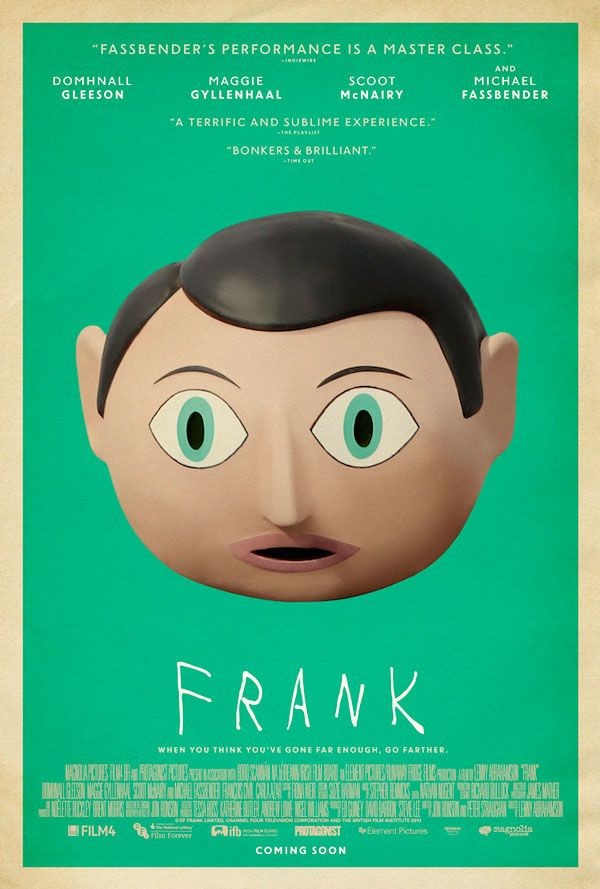 """Adrian Curry, on his excellent blog about movie posters, has placed this poster for the indie comedy """"Frank"""" at the top of his list of 2014's best movie ..."""