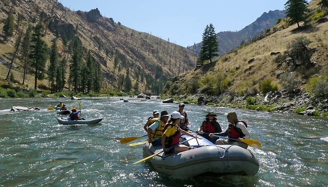 Middle Fork Salmon River Rafting - list of outfitters