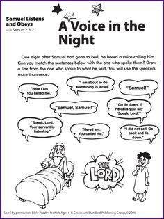 Activities For Samuel Bible Story