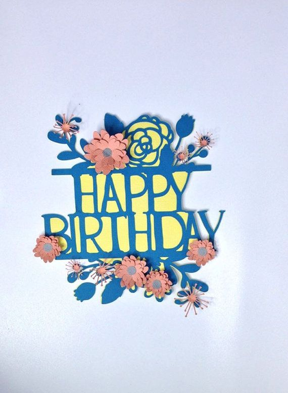 One only.  Orders taken too. Flower Cake Topper Paper Cut Out With Flowers by RubyCanoeDesign, $20.00
