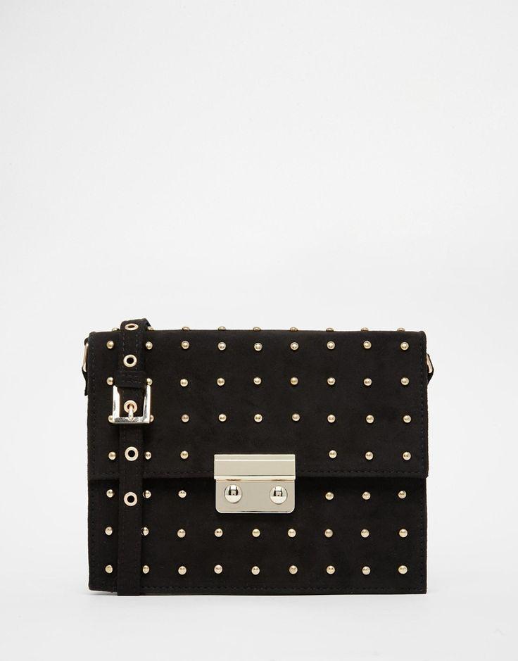 Image 1 ofASOS Mini Pin Stud Cross Body Bag