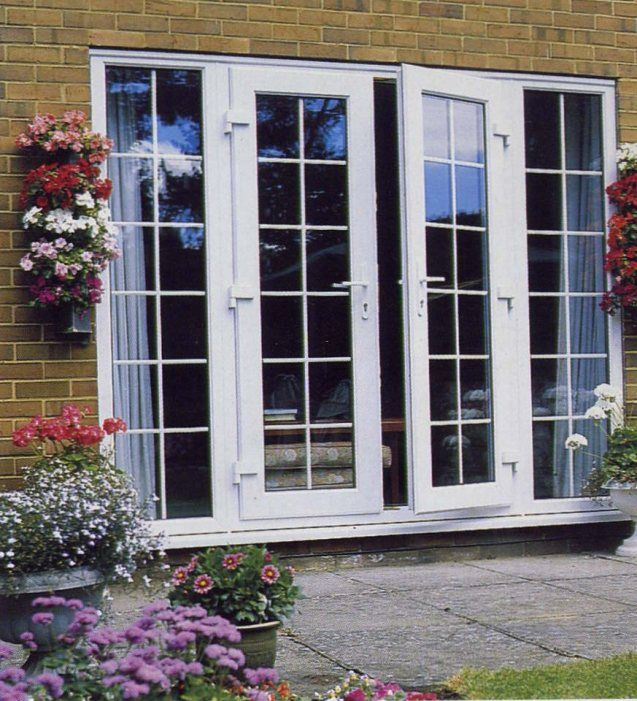 French Doors Exterior With Built In Blinds