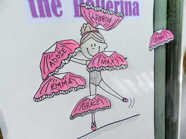 pin the tutu - ballerina party