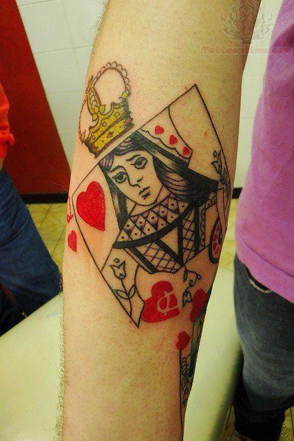 Queen Poker Card Tattoo