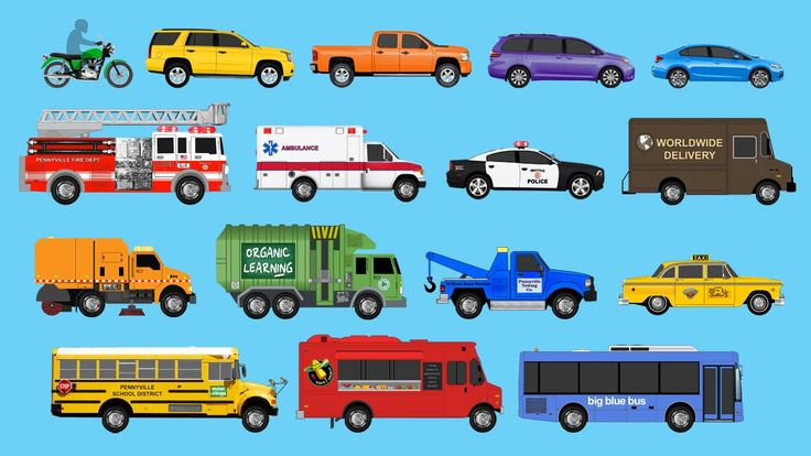 Learning Street Vehicles for Children - Learn Cars, Trucks, Fire Engines...