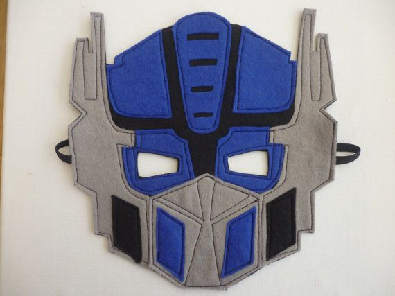 Felt Optimus Prime Transformers Mask, fancy dress/costume/dressing up on Etsy, $12.93