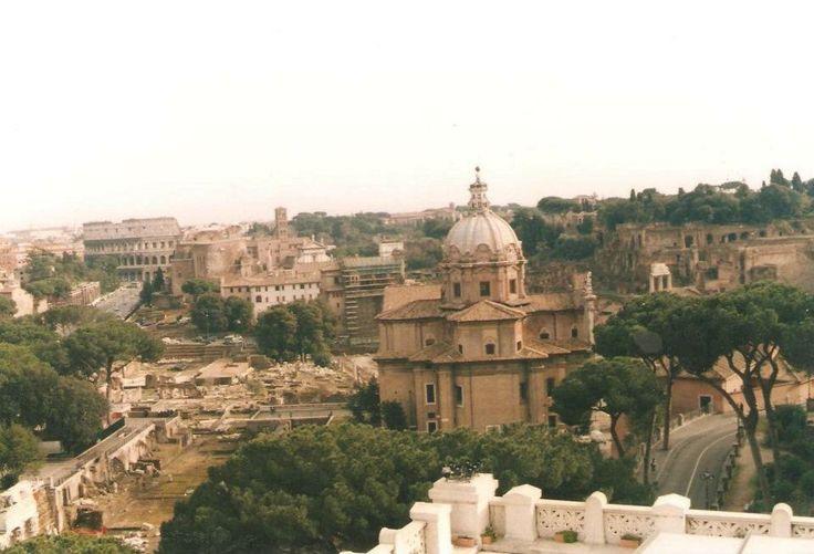 Foro romano desde la piazza Venezia