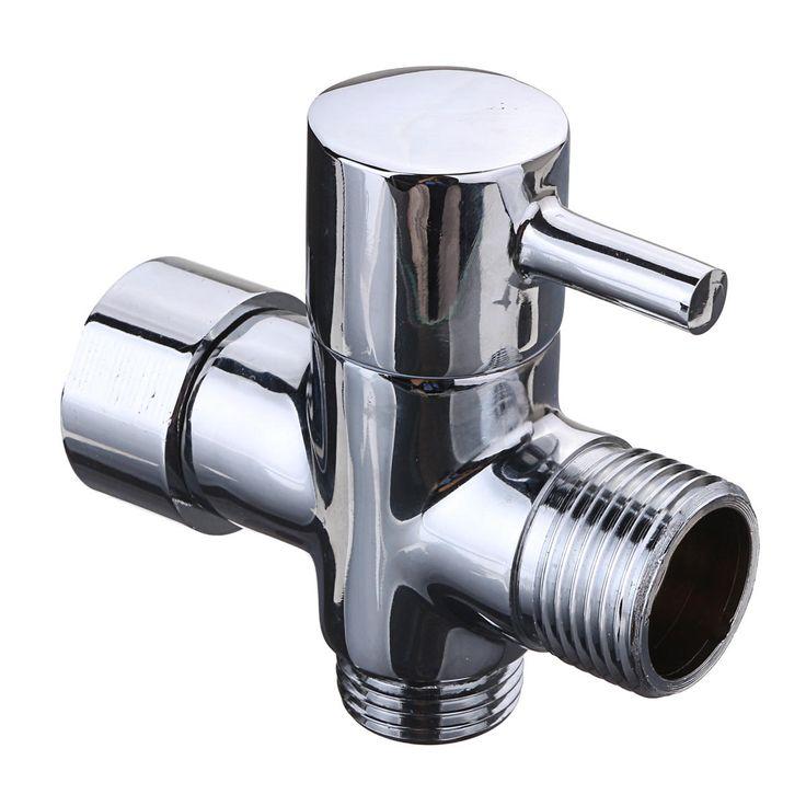 [US$9.87] 7/8 Inch T-Adapter 3 Way Connector Brass Shower Diverter with Valve for Toilet Bidet Handheld Sprayer  #bidet #brass #connector #diverter #handheld #inch #shower #sprayer #tadapter #toilet #valve #with