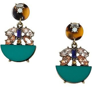 Womens sea green earring from Mango - £9.99 at ClothingByColour.com