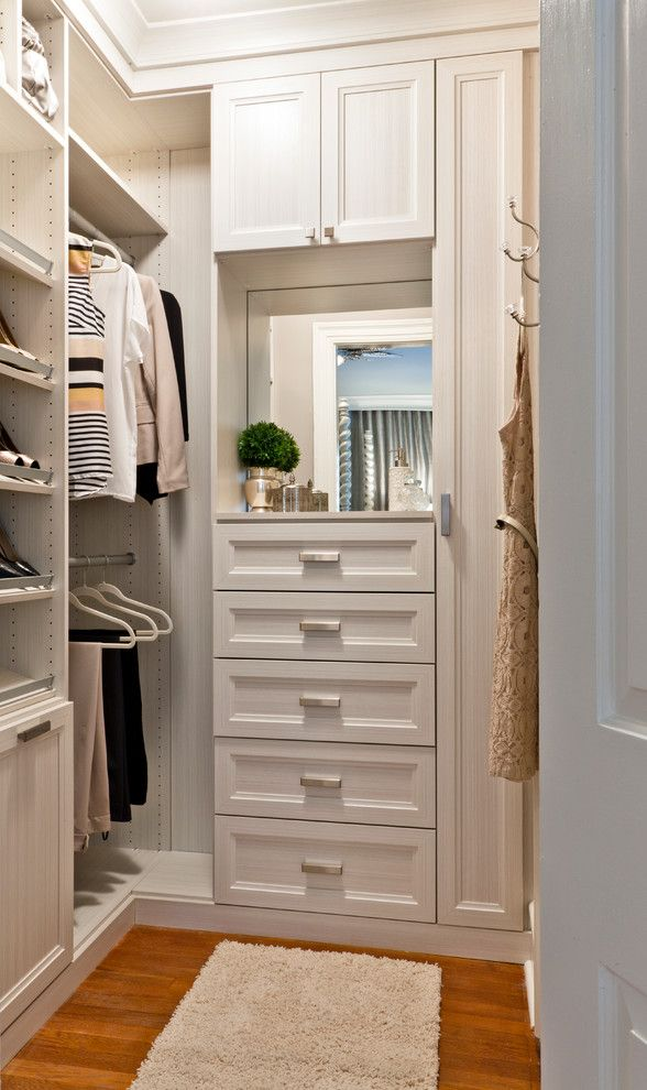 Small Walk In Closet Design Closet Transitional With