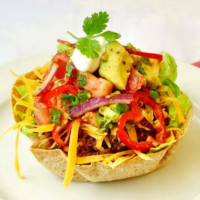 Low Fat Taco SaladLowfat, Fat Tacos, Low Fat, Chunky Avocado, Tomatoes Salsa, Tacos Salad, Taco Salads, Food Photo, Avocado Tomatoes