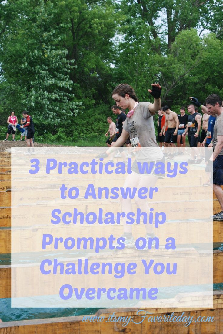 I always dread those essay prompts asking you to talk about a challenge you overcame.  This is fantastic information on how to answer.  Great ideas I had never thought of.  Repin this one for sure.