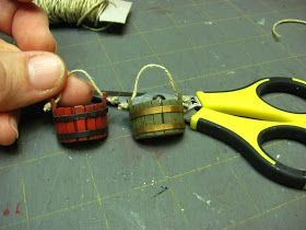 Dollhouse Miniature Furniture - Tutorials | 1 inch minis: 1 INCH SCALE HALF BUCKET TUTORIAL -- How to make a half bucket for your dollhouse.