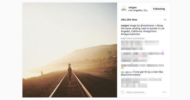 Ci sono errori e leggerezze che con un pochino di attenzione si potrebbero evitare, qualche giorno fa National Geographic ha pubblicato una foto un po' sconveniente sul proprio profilo Instagram, un'immagine di una ragazza che passeggia sui binari del treno. Una foto pericolosa soprattutto se si pensa a quante persone sono morte a causa di queste foto, l'ultima appena qualche settimana fa. Un profilo Instagram di una importante rivista fotografica ed educativa che conta ben 74,9 milioni di…