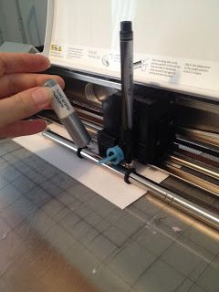 [loveable] chaos: Tutorial: Using a Silhouette Cameo with a Sharpie pen to address cards