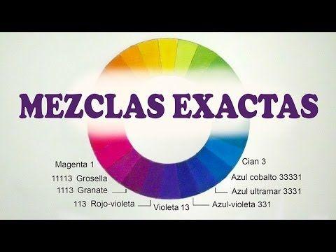 MEZCLAR COLORES. MEDIDAS EXACTAS. Cian, azul cobalto, ultramar, violeta,...
