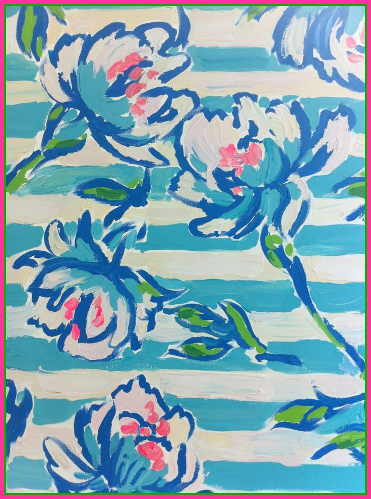 Lilly Pulitzer print design team painting of Tossing the Line