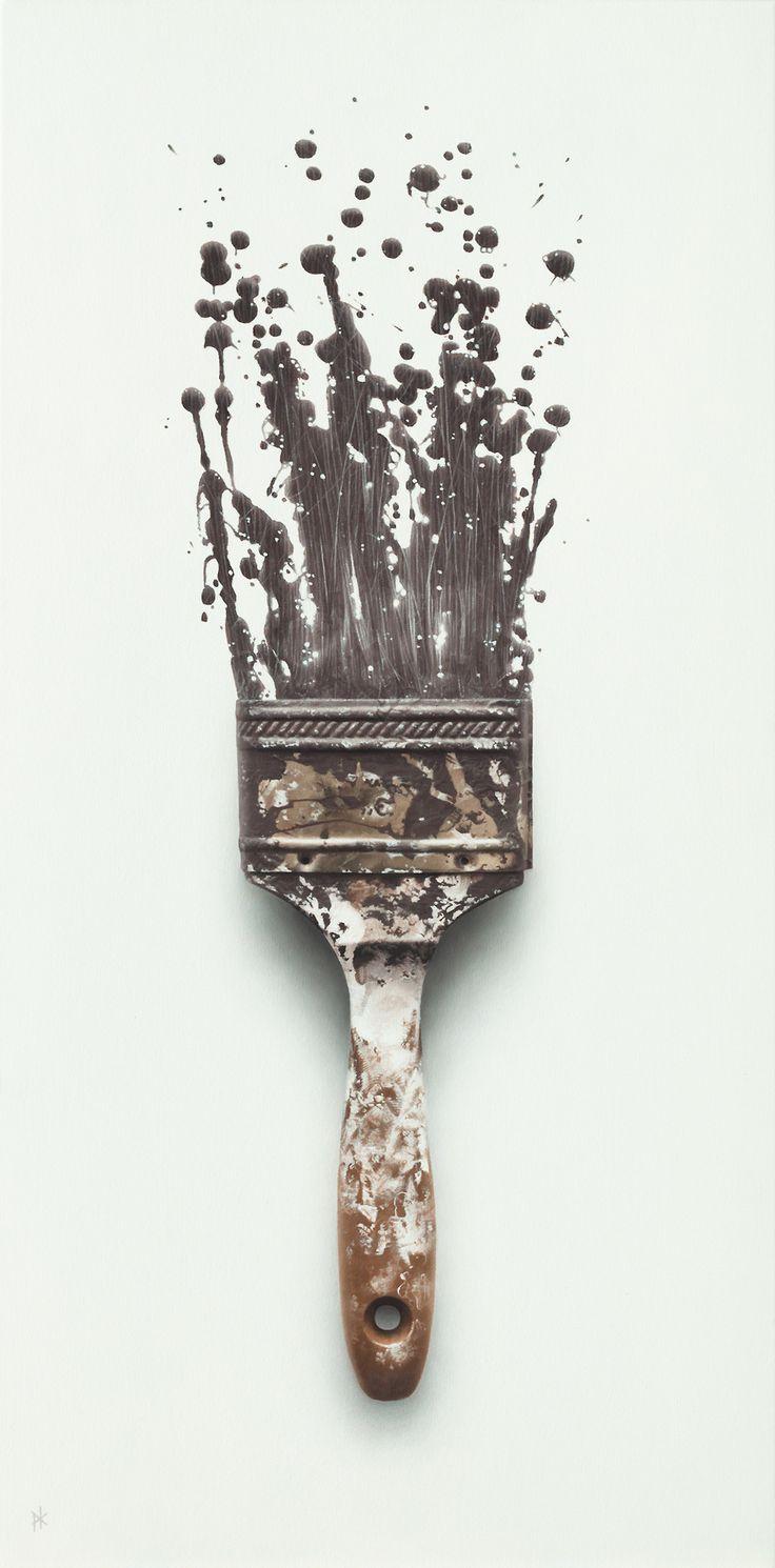"""patrick-kramer:""""Frustration"""", Oil on Canvas, 36"""" x 18""""."""