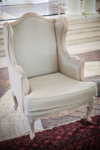 Linen Ornate Chair from APlace
