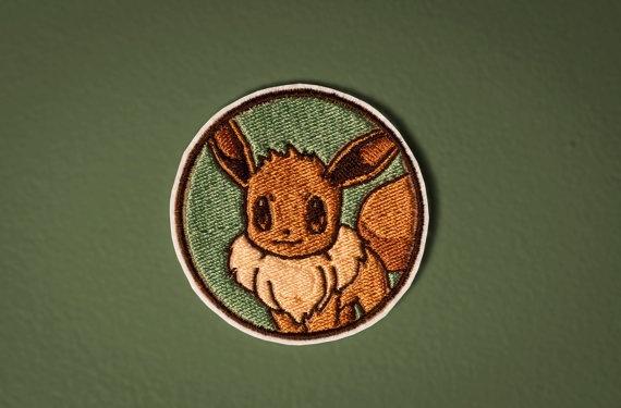 Pokemon Portraits -- Eevee Portrait - Embroidered Iron-on Pokemon Patch