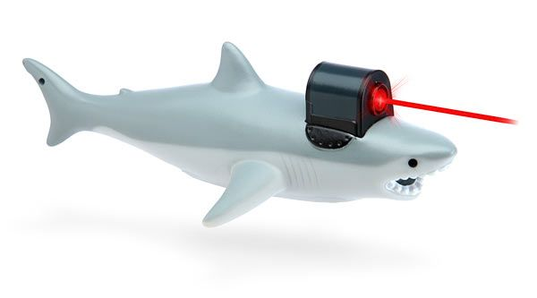 Feel like you've just received your Doctorate of Evil Affairs when you whip out the Shark With Frickin' Laser Pointer and use it in your next big meeting... or to exercise your cat. This shark is a Class I laser.