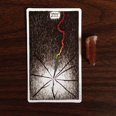 Eight of Wands meaning & description: http://happyfishtarot.com/blog/eight-of-wands-wild-unknown-tarot/