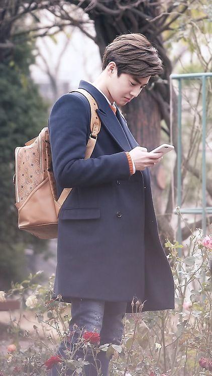 Suho <3 - 141124 Filming at Kyungin Women's University