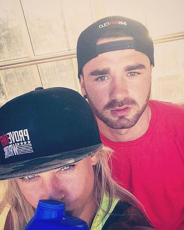 Surround yourself with those on the same mission as you. Corey and Lauren doing fitness and life together. 💪 PROVE THEM WRONG snapback available at innerbeastclothing.com/accessories