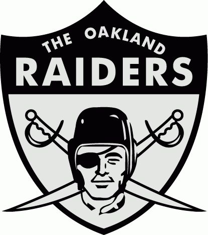 Oakland Raiders Primary Logo (1963) - Raider head on swords and silver and black shield with script
