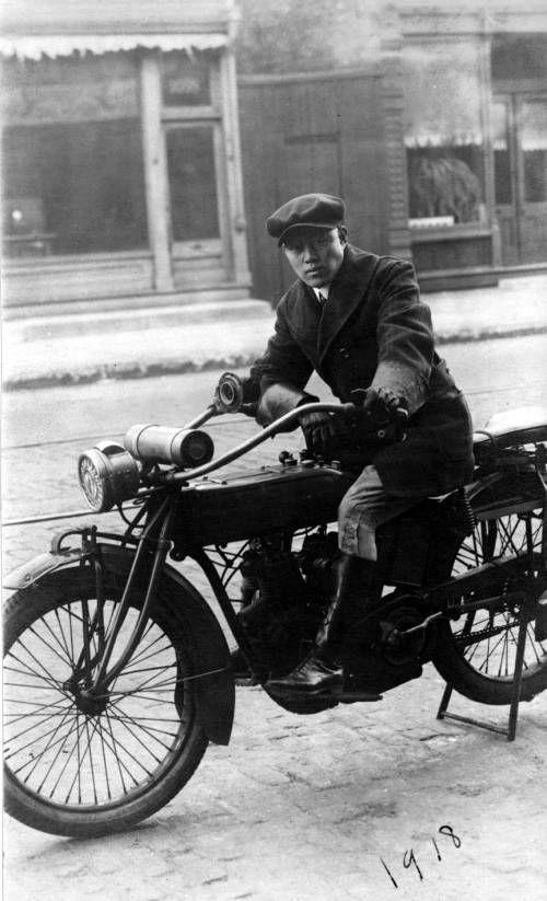man on motorcycle. http://digitallibrary.usc.edu/cdm/ref/collection/p15799coll126/id/16181