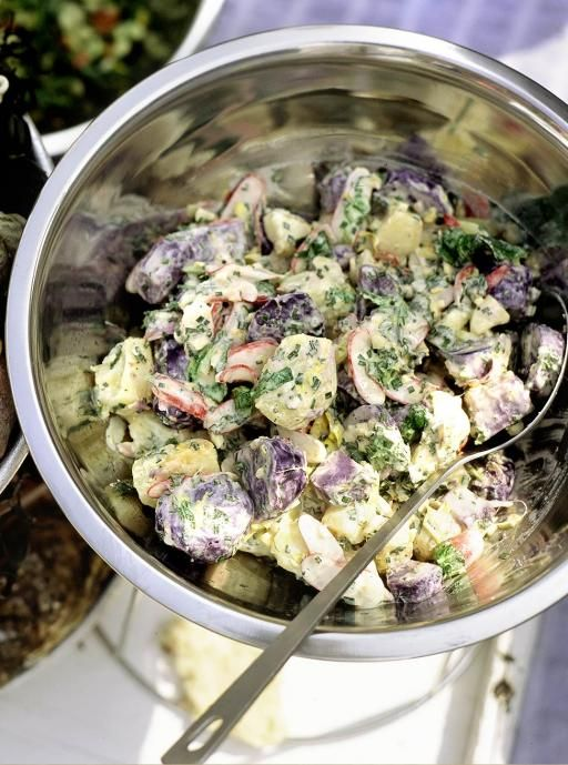 Purple Potato Salad | Vegetables Recipes | Jamie Oliver Recipes                                                                                                                                                                                 More