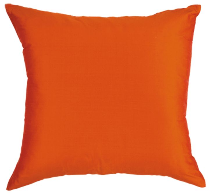 The Samara cushions, priced $39, is available in red, orange, silver, sapphire, peacock, ocean, melon, green, black, coal and aqua and features a sensual raw silk-like finish.