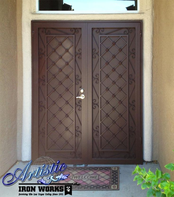 Lovely Security Doors Double Entry