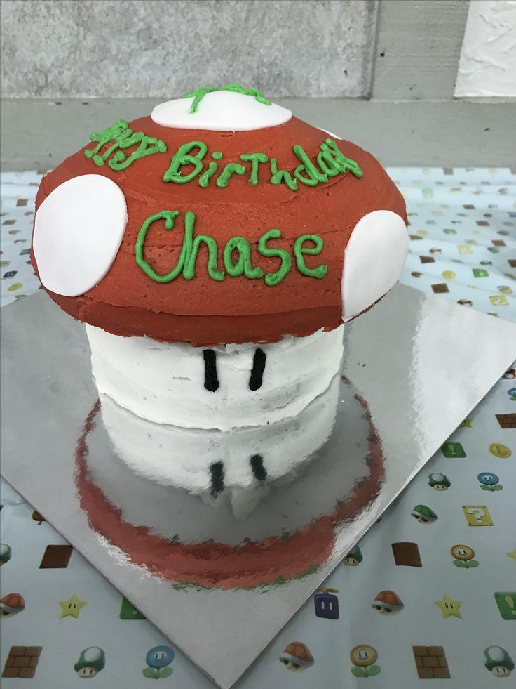 Chase 9th bday cake/red mushroom
