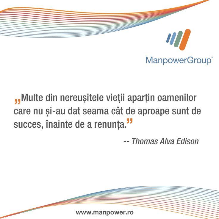 Edison despre tenacitate.
