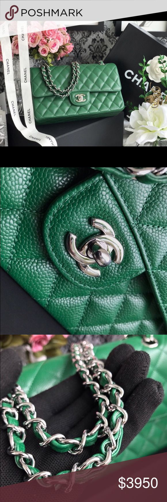 Chanel double flap handbag Authentic Chanel double flap in like new condition. I just wore  less than 5 times. The authentication card, dust bag, and box are included. Very rare color and it's hard to find. Nice bag and good price let me know if you're interested. CHANEL Bags Shoulder Bags