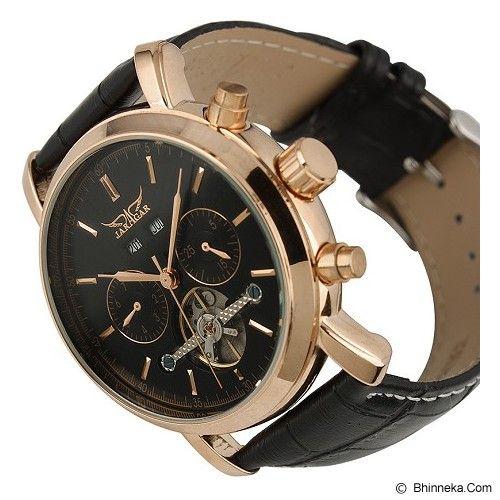 ESS Luxury Men Leather Strap Automatic Mechanical Watch [WM298] - Black/Gold - Jam Tangan Pria Casual