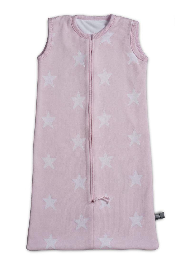 Baby's Only slaapzak ster baby roze / wit uit de online shop van Babyaccessoires.eu. In allerlei kleuren.