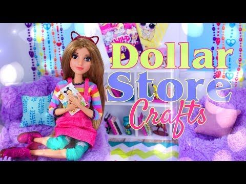 (1) DIY - How to Make: Dollar Store Doll Crafts | Doll Bed | Doll Rug | Doll Fuzzy Chair & More - YouTube