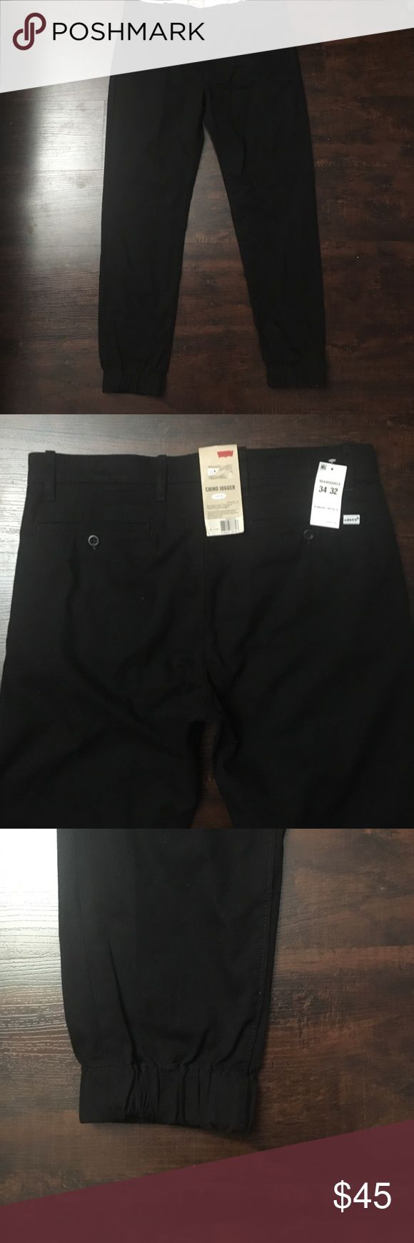 Levi men's chino joggers Levi's black men chino joggers size 34 x 32 Levi's Pants Sweatpants & Joggers