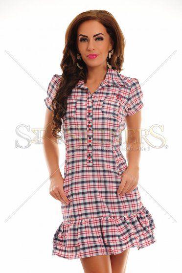 MissQ Chic Pattern White Dress