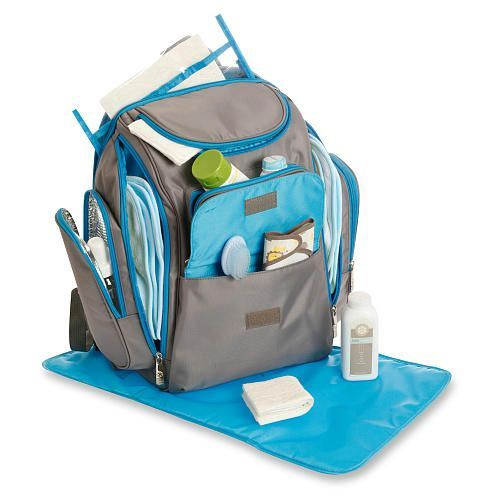 """Jeep Places and Spaces Backpack Diaper Bag Grey/Blue - Jeep - Babies """"R"""" Us"""