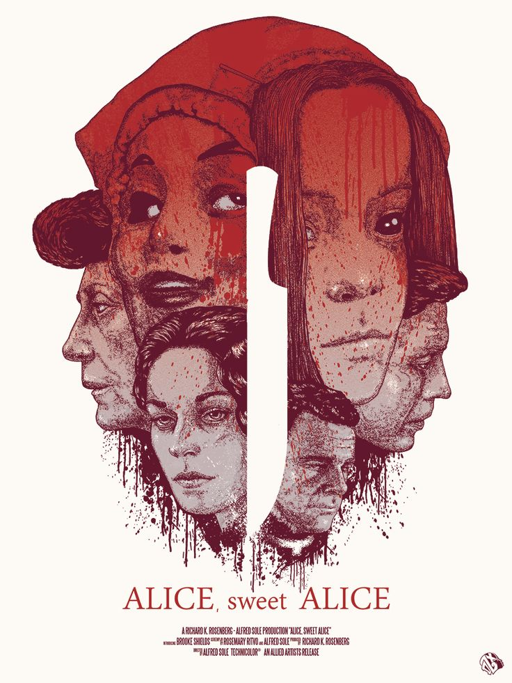 "Officially licensed poster for  ""Alice, sweet Alice"""