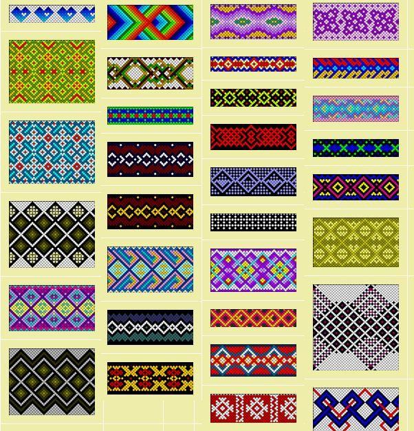 Friendship bracelets - use for loom beading